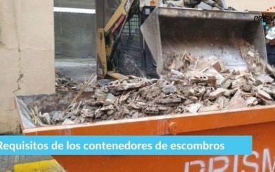 Requisitos de los contenedores de escombros