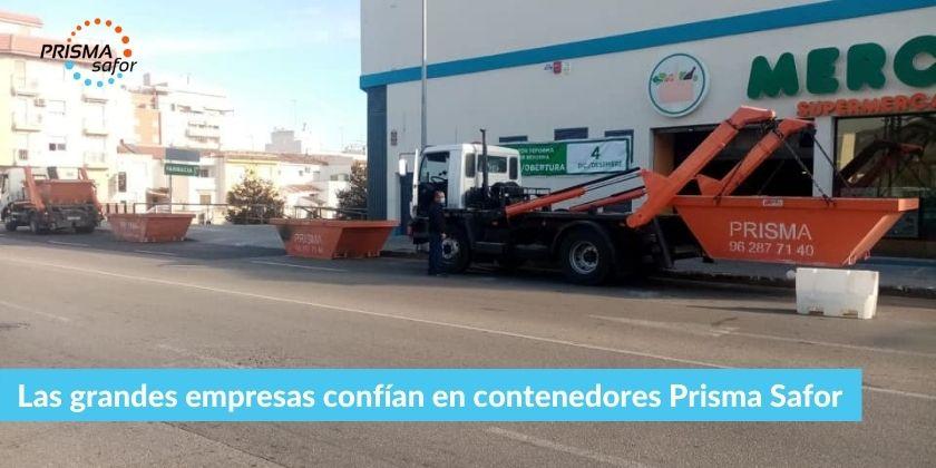 Las grandes empresas confían en contenedores Prisma Safor